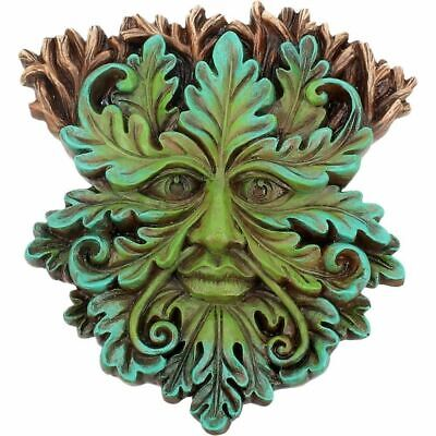 £12.99 • Buy GREEN MAN Of The Forest Wall Plaque Oak King WOOD SPIRIT Pagan Wiccan