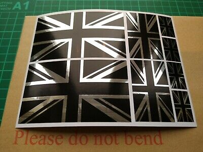 8 X Union Jack British Flag Stickers For Scooter Motorcycle Car Van Laptop  • 3.49£