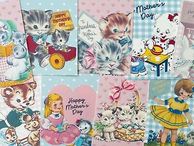 £2.80 • Buy Cute Mothers Day Vintage Card Toppers Nan Grandma Craft Card Making Or Tags