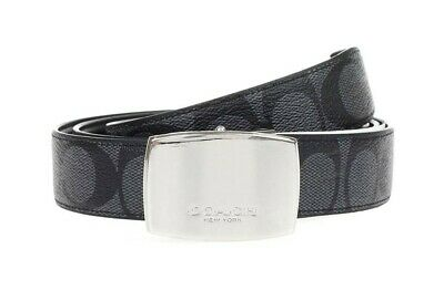 $109 • Buy Coach F64828 Heritage Cut-to-Size Signature Coated Canvas Reversible Belt