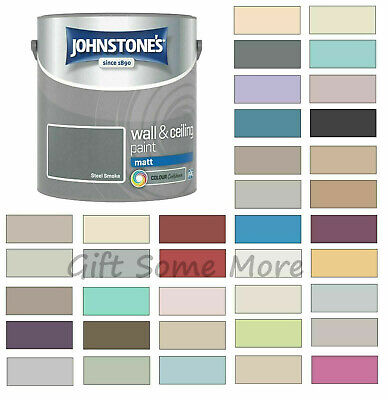 Johnstones Wall Ceiling Matt Emulsion Paint 2.5 Litres - ALL COLOURS  • 18.99£