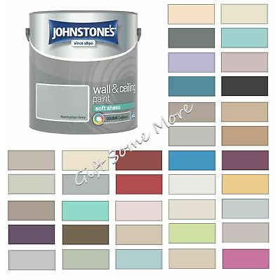 £17.89 • Buy Johnstones Wall Ceiling Soft Sheen Emulsion Paint 2.5 Litres - ALL COLOURS