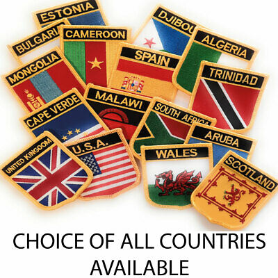 Embroidered Flag Sew On Patch Choice Of 190+ Countries FREE UK Delivery • 2.99£