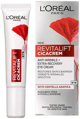 L'Oreal Paris Revitalift Cica Anti-Wrinkle & Recovery Hydrating Eye Cream 15ml • 7.89£