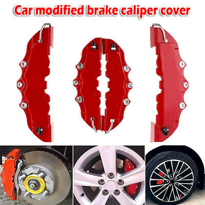 AU15.99 • Buy 4PCS 3D Red Car Universal Disc Brake Caliper Covers Front & Rear Accessories Kit