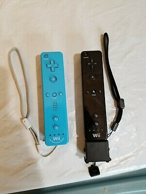$ CDN56.96 • Buy Lot Of 2 OEM Nintendo Wii Motion Plus Controllers Black Blue Remote Wiimote