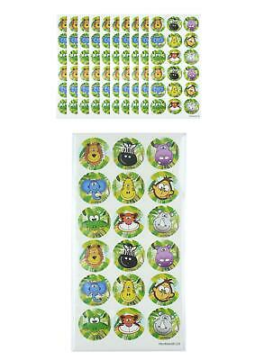 180 Jungle Zoo Animal Stickers Children Kids Birthday Party Bag Fillers • 2.90£