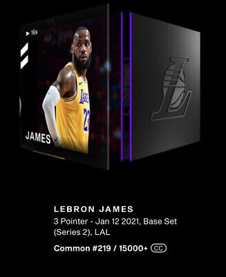 $2800 • Buy Lebron James 3 Pointer NBA Top Shot S2 NFT Digital Card Moment #219/15000+