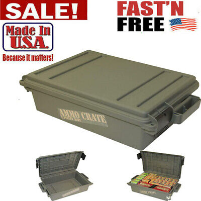 $32.99 • Buy Military Ammo Box Plastic  Storage Case 65 LBS Hunting Ammunition Crate Utility
