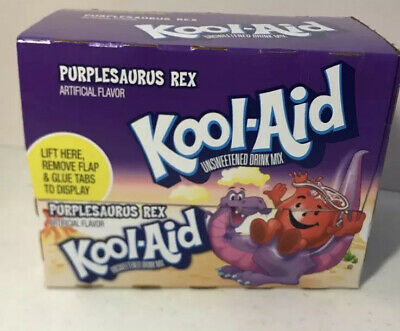 Purplesaurus Rex Kool-Aid Drink Mix 48 Packs 1 Case Grape Use By 2017 Limited 1d • 15.16£