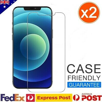 AU6.78 • Buy 2x For Apple IPhone 12 11 Pro MAX XS XR X 7 8 SE Tempered Glass Screen Protector