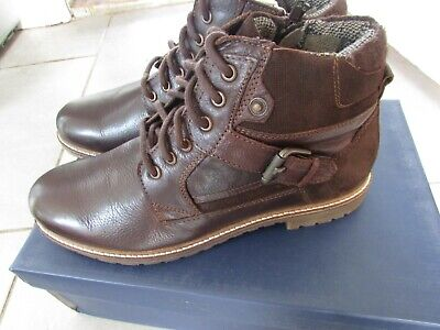 Mens Leather Boots Size 8 • 20£