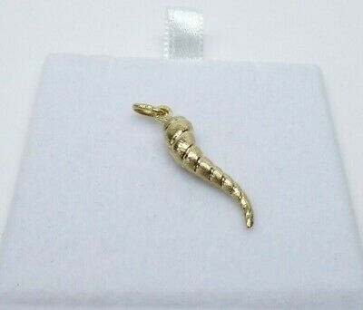 £39 • Buy 9ct Gold Charm Horn Of Plenty Dangle Traditional Yellow Gold Gift Box