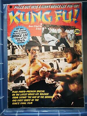 £30 • Buy Bruce Lee  1970s Rare Kung Fu Poster Magazine 3ft X 2ft Poster In Vgc.