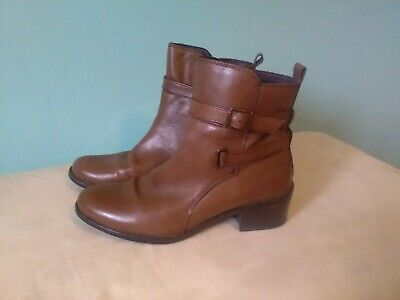 Pavers Tan Leather Size 5 Ankle Boots • 20£