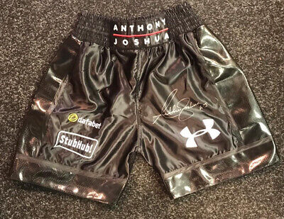 AU361.15 • Buy Anthony Joshua Signed Boxing Fight Replica Alternative Shorts V Klitsckho COA