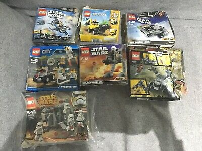 Lego Small Sets (3 Sets  Parts Missing) Including Lego Starwars And Lego Creator • 30£