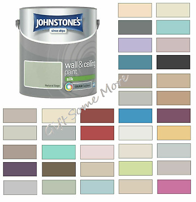 £17.40 • Buy Johnstones Wall Ceiling Silk Emulsion Paint 2.5 Litres - ALL COLOURS