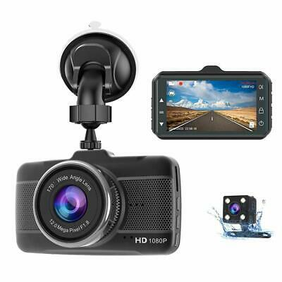 AU76.14 • Buy Dash Camera For Car, Front And Rear 1080P Full HD Dashcam, Dual Dash Cam