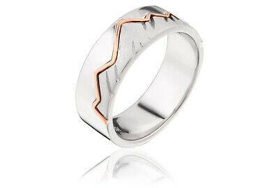 £69 • Buy NEW Official Welsh Clogau Silver & Rose Gold Cynefin Ring SIZE L £60 OFF!