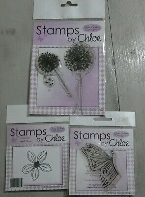 Stamps By Chloe - Butterflies And Flowers - 3 Stamp Sets • 4.99£