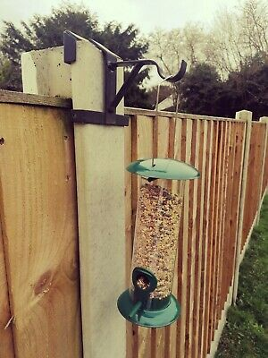 Garden Bird Feeder Hanging Brackets To Fit Concrete Fence Post No Fixings X2 • 10£