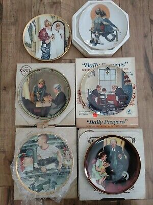 $ CDN44.27 • Buy Lot Of 6 Vintage Knowles Norman Rockwell Plates Saturday Evening Post Prom Dress
