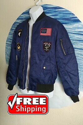$22.99 • Buy Men's Fashion Jacket Worm Military Style Size M Color Navy Blue