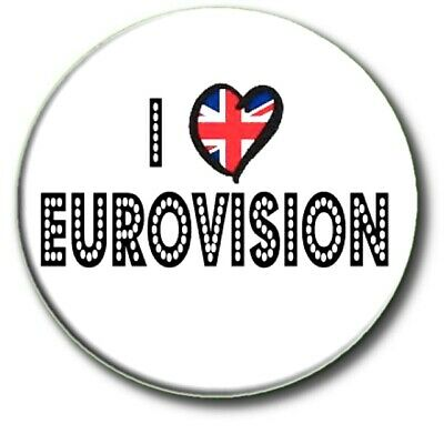 £2.99 • Buy I Love (heart)  Eurovision Song Contest Party United Kingdom Large 55mm Badge