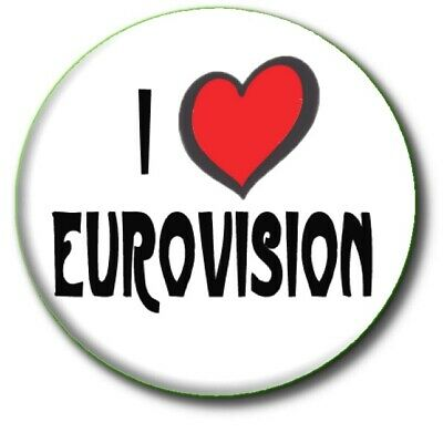 £2.99 • Buy I Love (heart)  Eurovision Song Contest Party  Large 55mm Badge