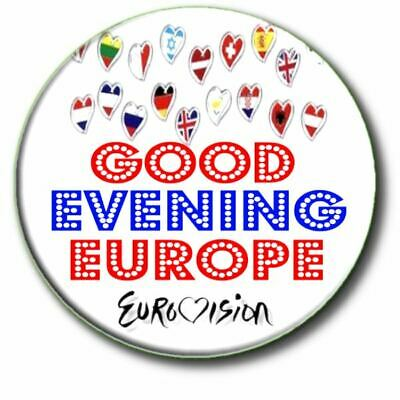 £2.99 • Buy  Eurovision Song Contest Party Good Evening Europe Large 55mm Badge