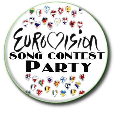 £2.99 • Buy  Eurovision Song Contest Party Beautiful Large 55mm Badge