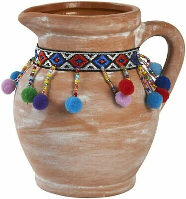 £19.99 • Buy Moroccan Terracotta Pom Pom Style Flower Pot Small | 24/48 HOUR UK DELIVERY