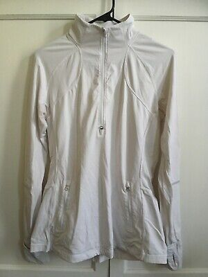 $ CDN50.05 • Buy Lululemon Fitted White Full ZIP Woman's Jacket SZ 12 Cuffins Excellent