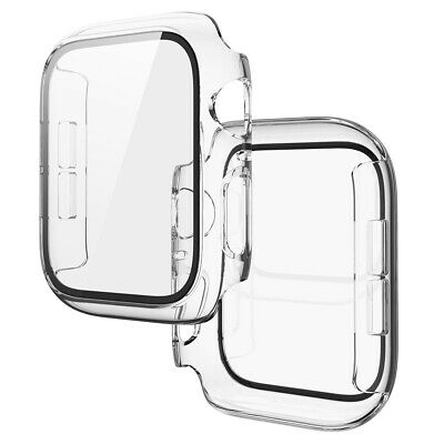 $ CDN6.95 • Buy Cover For Apple Watch Series 6 5 4 SE Tempered Glass Screen Protector Case C#P5