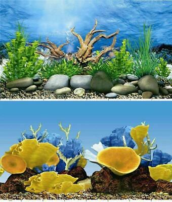 AU17.77 • Buy Aquarium Fish Tank Background Double Sided 24  / 60cm High - 2 To 10 FT Lengths