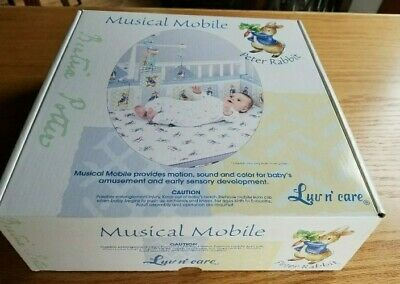£35.40 • Buy ADORABLE NEW Luv N' Care Beatrix Potter Peter Rabbit Baby Crib Musical Mobile