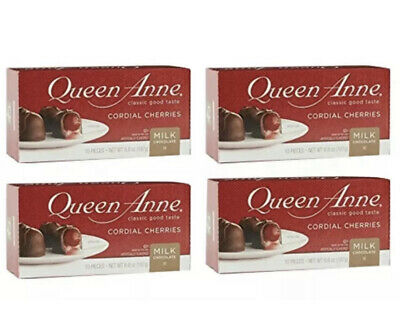 $21.80 • Buy Lot Of 4 (6.6 Oz) Boxes - Queen Anne Milk Chocolate Covered Cordial Cherries