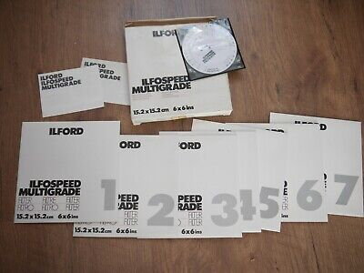 Ilford Multigrade Ilfospeed Filters 6x6 Inch UNOPENED Larger Size 15.2cm Square • 15£