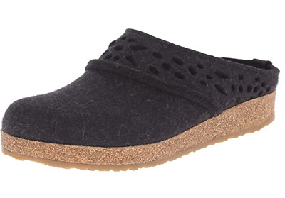 Haflinger Grizzly GZ Lacey Graphit Charcoal Arch Support Slipper GRAY US 7 EU 38 • 57.39£