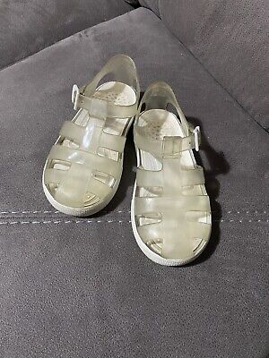 Clear White Igor Jelly Sandals Size 27 / 9.5 • 7£