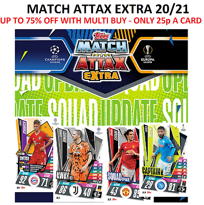 £0.99 • Buy Match Attax Extra 20/21 Squad Update, Away Kit, Captain & More - Base Cards