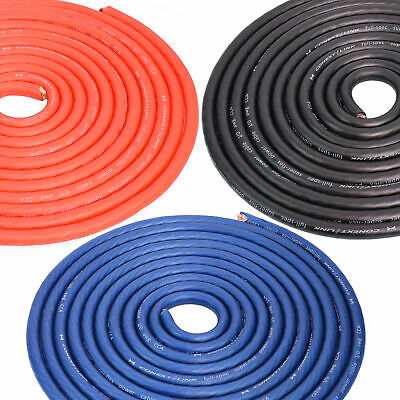 $17.99 • Buy 1/0 Gauge 0 GA AWG Battery Power Cable Ground Wire Roll CCA Frost Blue Red Black
