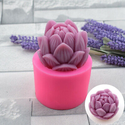 £5.99 • Buy DIY 3D Lotus Silicone Cake Fondant Mold Wax Clay Soap Candle Making Mould Home