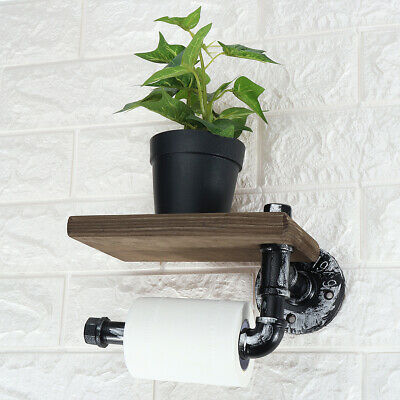 AU22.30 • Buy Wall Mount Toilet Roll Tissue Holder Stand Bath Paper Holder Phone Shelf Decor