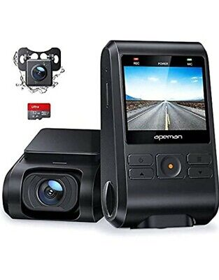 AU93.89 • Buy APEMAN Dash Cam, Front And Rear Camera For Cars 1080P, SD Card Included, Support