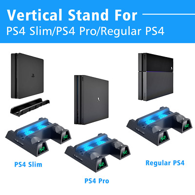 AU71.77 • Buy OIVO PS4/PS4 Slim/PS4 Pro Dual Controller Charger Console Vertical Cooling Stand