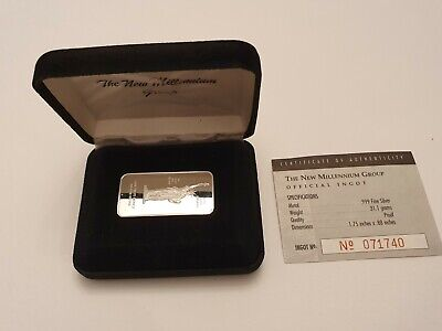 1oz Statue Of Liberty Silver Ingot Bullion Bar In Presentation Box & COA #71740 • 30.99£