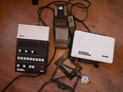 Darkroom Enlarger Multigrade HS400 Durst Ilford Timer Mixing Boxes Head • 65£