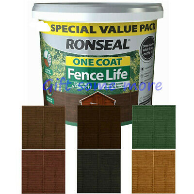 £12.79 • Buy Ronseal One Coat Garden Shed And Fence Paint All Colours  5L. FAST DELIVERY